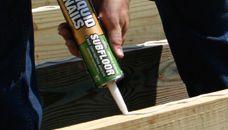 Applying Subfloor Adhesive - Copyright Liquid Nails