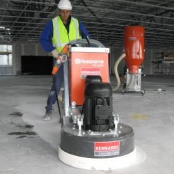 Roughening a Concrete Floor Before Vinyl Floor Installation