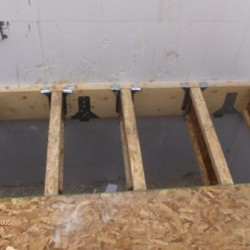 Subfloor Can Be Laid Straight on Joists (Seen Here) or On Top of an Existing Floor