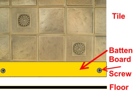 Batten Board for Installing Wall Tile