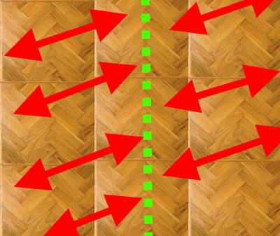 Sand Parquet Flooring Step 1