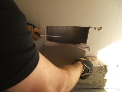 Drywall Door Hinges Downward
