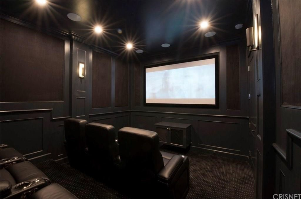 Dark and Nearly Perfect Home Movie Theater