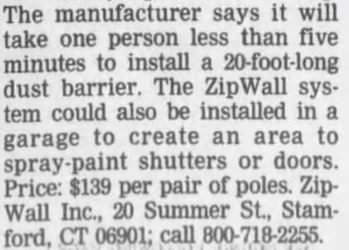 ZipWall Chicago Tribune, March 19 1999