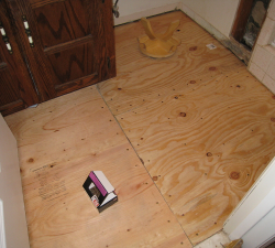 Subfloor for resilient vinyl flooring easy renovate for Preparing floor for vinyl