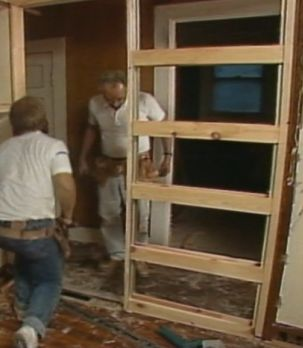how to make a pocket door in an existing wall