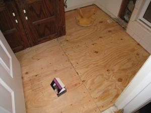 Plywood Subfloor To Concrete Slab